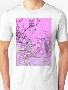 Flower Pink Floral Impression Vintage Unisex T-Shirt