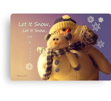 Snowman with His Snowbaby Canvas Print
