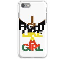 I Fight Like A Girl - HG iPhone Case/Skin