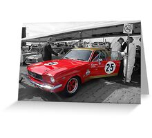 Bullet Mustang Greeting Card