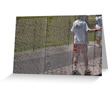 Vietnam War Memorial Greeting Card