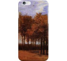 Autumn Landscape, by Vincent van Gogh. Vintage fine art impressionism oil painting. iPhone Case/Skin