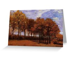 Autumn Landscape, by Vincent van Gogh. Vintage fine art impressionism oil painting. Greeting Card