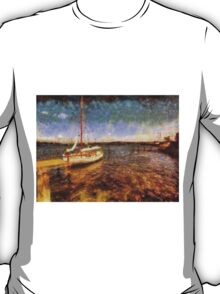 Old vintage wooden sail boat T-Shirt