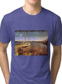 Old vintage wooden sail boat Tri-blend T-Shirt