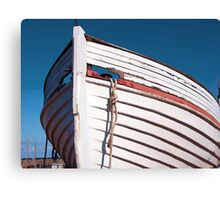Prow of a wooden boat Canvas Print