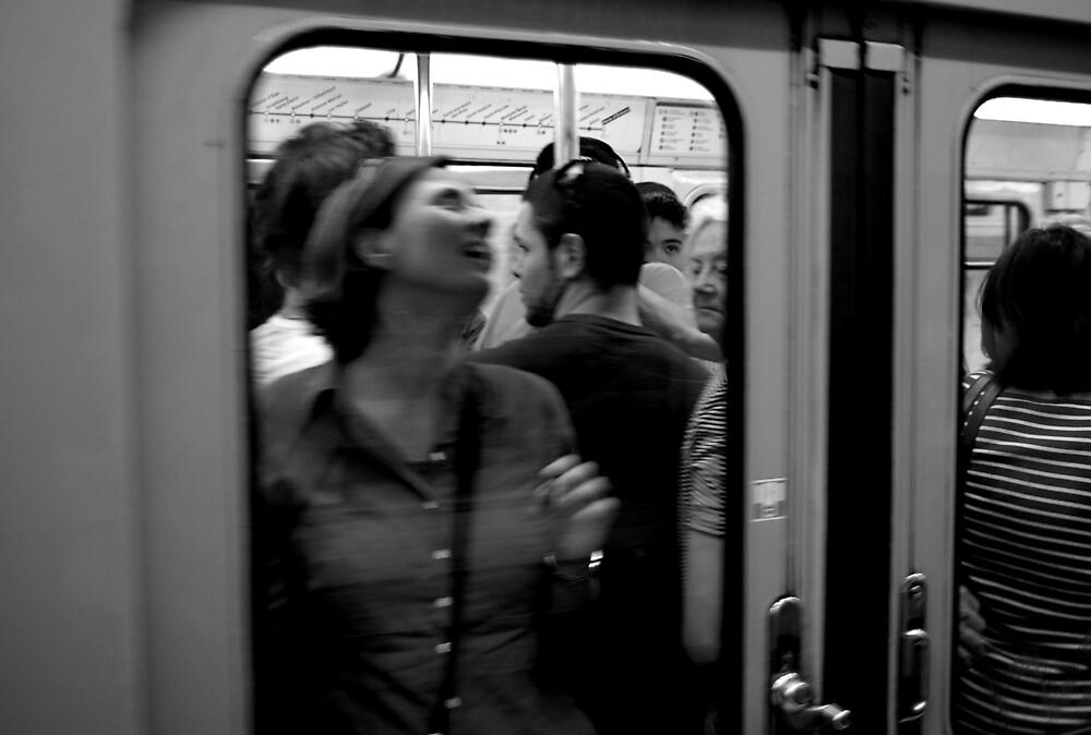 Subway, Paris, France by Piotr Jaskiewicz