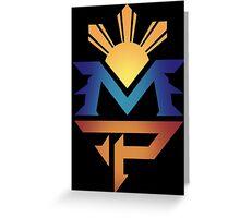 manny pacquiao Pac Man Sun Greeting Card