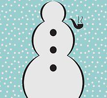 Snowman Christmas Scene by blazineagle