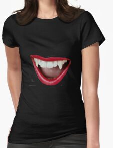 fangs Womens Fitted T-Shirt