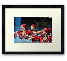 Aqua Ballet Framed Print