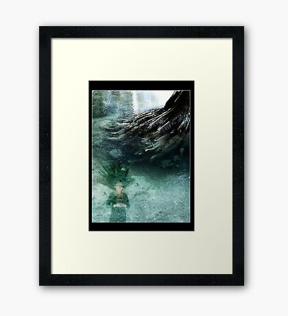 Quietly slipping Framed Print