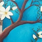 Blue Magnolia crop1 by Leanne Inwood