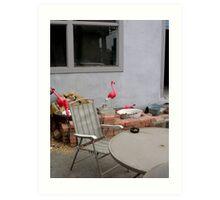 Flamingo Abode Art Print