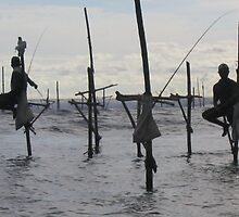 Stilt Fishermen by Ben de Putron