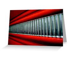 Red Interior Greeting Card