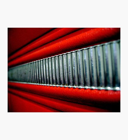 Red Interior Photographic Print