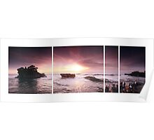 Sunset At Tanah Lot Poster