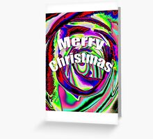 Psychedelic Merry Christmas Greeting Card