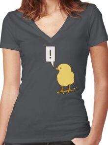 Little bird Women's Fitted V-Neck T-Shirt