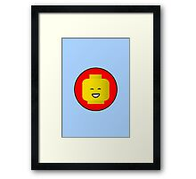 MINIFIG HAPPY FACE Framed Print