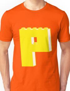 THE LETTER P, by Customize My Minifig T-Shirt