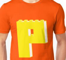 THE LETTER P, by Customize My Minifig Unisex T-Shirt