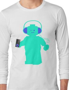 Minifig with Headphones & iPod Long Sleeve T-Shirt