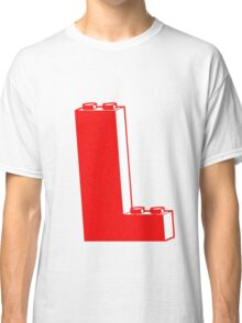 THE LETTER L, by Customize My Minifig Classic T-Shirt