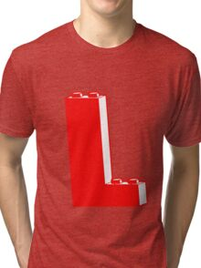 THE LETTER L, by Customize My Minifig Tri-blend T-Shirt