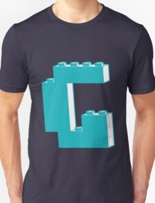 THE LETTER G, by Customize My Minifig Unisex T-Shirt