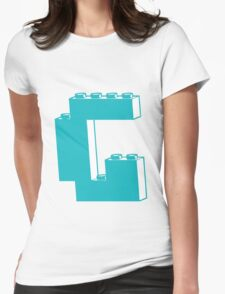 THE LETTER G, by Customize My Minifig Womens Fitted T-Shirt