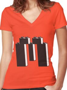 THE LETTER M Women's Fitted V-Neck T-Shirt