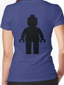 Minifig [Large Black] Women's Fitted V-Neck T-Shirt