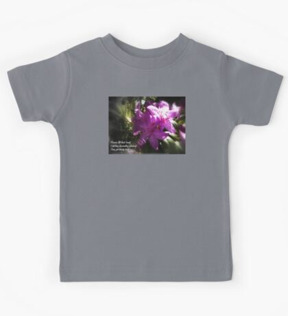 rhododendron with haiku Kids Tee