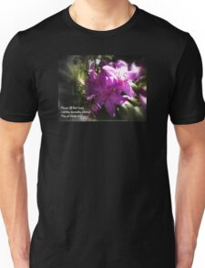 rhododendron with haiku Unisex T-Shirt