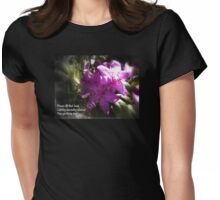 rhododendron with haiku Womens Fitted T-Shirt
