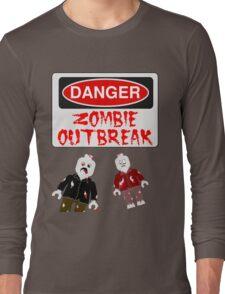 DANGER ZOMBIE OUTBREAK Long Sleeve T-Shirt