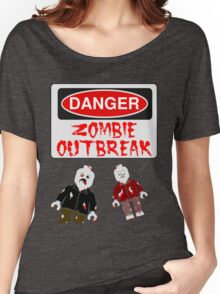 DANGER ZOMBIE OUTBREAK Women's Relaxed Fit T-Shirt