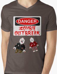 DANGER ZOMBIE OUTBREAK Mens V-Neck T-Shirt