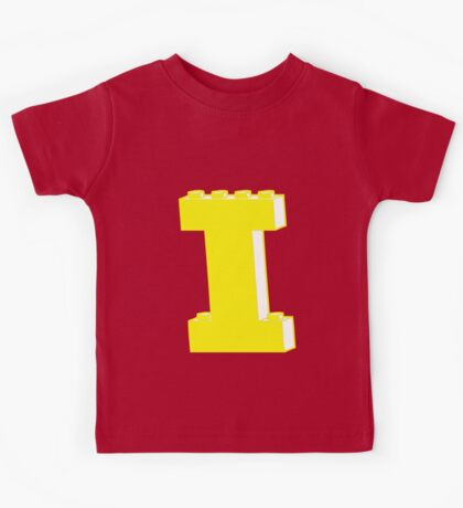 THE LETTER I, by Customize My Minifig Kids Tee