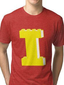 THE LETTER I, by Customize My Minifig Tri-blend T-Shirt