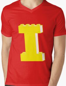 THE LETTER I, by Customize My Minifig Mens V-Neck T-Shirt