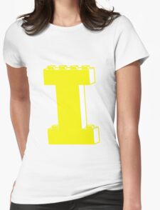 THE LETTER I, by Customize My Minifig Womens Fitted T-Shirt