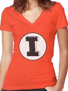 THE LETTER I Women's Fitted V-Neck T-Shirt