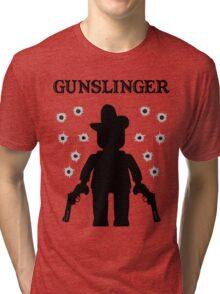 GUNSLINGER, by Customize My Minifig Tri-blend T-Shirt