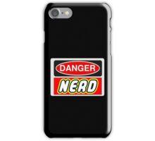 Danger Nerd Sign iPhone Case/Skin