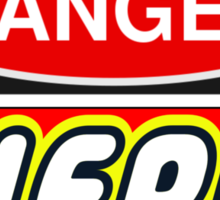 Danger Nerd Sign Sticker