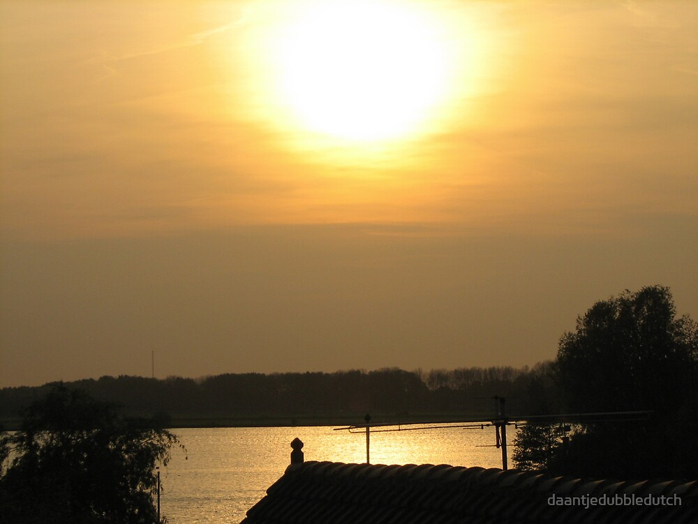 sunset in holland by daantjedubbledutch