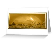 Somewhere In a Cornfield It`s Amber Greeting Card